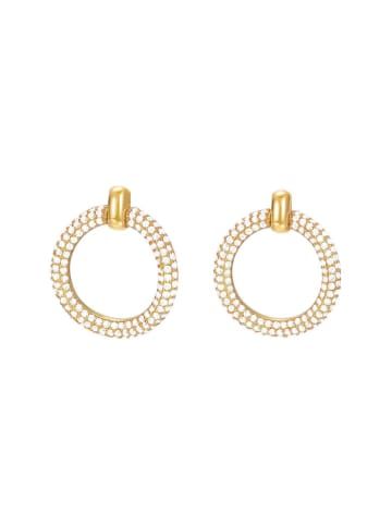 ESPRIT Esprit Damenohrringe in Gold aus Edelstahl mit Zirkonia