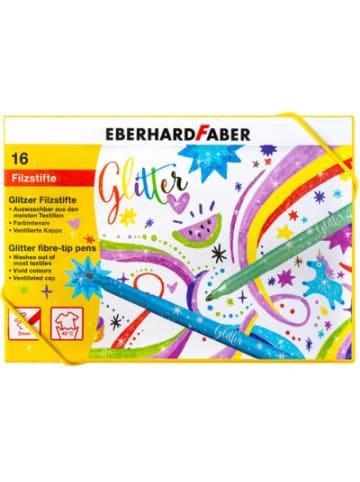 Eberhard Faber Glitzer Filzstifte, 16 Farben im Geschenkkarton