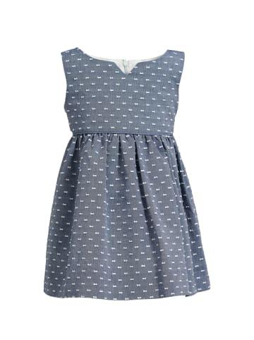 4nenes Plumetis-Kleid in Blaugrau