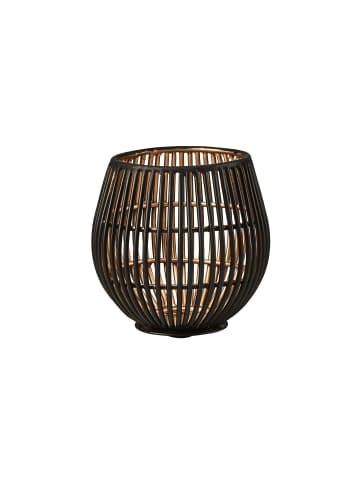Butlers Teelichthalter Höhe 9cm YOKO in schwarz und gold