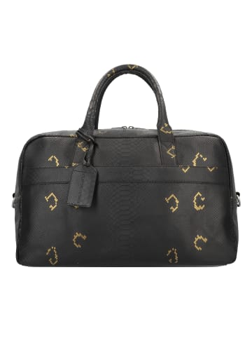 Cowboysbag Sunstone Weekender Reisetasche Leder 44 cm in snake black/gold