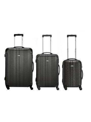 Packenger Kofferset Goliath Hartschalenkoffer in Schwarz