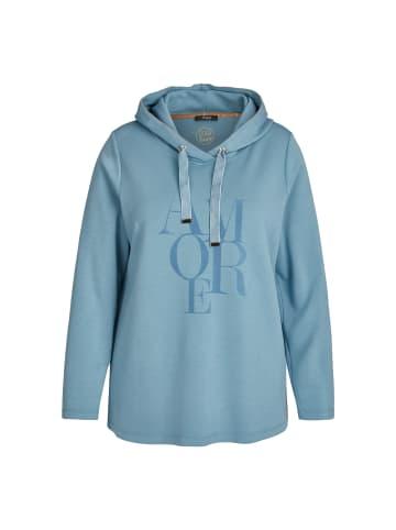 FRAPP  Pullover Zeitloses Kapuzensweatshirt mit Motiv in smoke blue