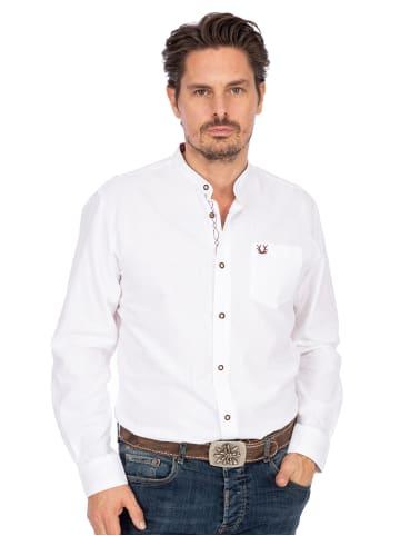 Krüger Dirndl Stehkragenhemd 901391-109 weiß rot