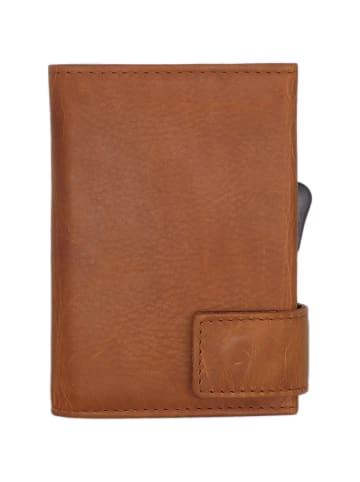 SecWal SecWal 1 Kreditkartenetui Geldbörse RFID Leder 9 cm in cognac