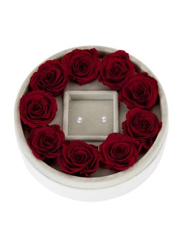Mia Milano Schmuckaufbewahrung Rosen Schmuckbox in rot