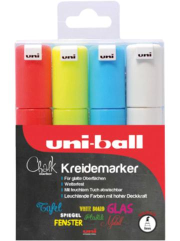 Uni-ball UNI Chalk Kreidemarker 8 mm, 4 Farben