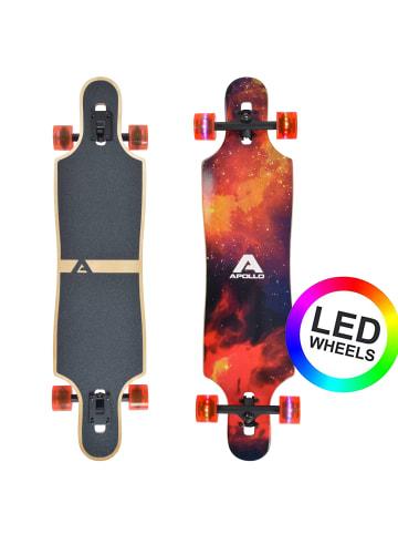 "Apollo Twin Tip DT Longboard "" Redshift - LED Wheels "" in rot/schwarz"