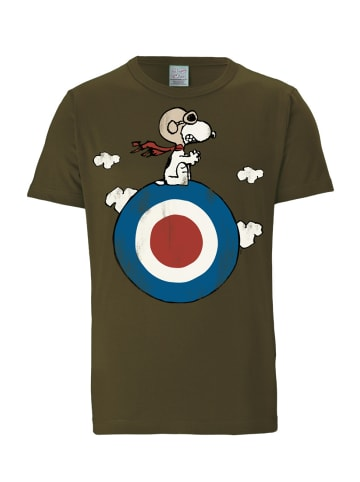 Logoshirt T-Shirt Snoopy - Peanuts in oliv