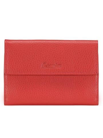 Esquire Primavera Geldbörse Leder 14 cm in rot