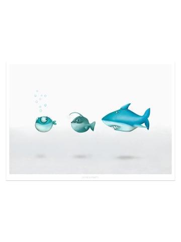 """Dori's Prints Poster / Bild """"Fische La Familia"""" - DIN A4"""