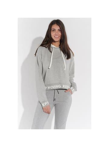 Course Kapuzen-Sweatshirt in grau melange