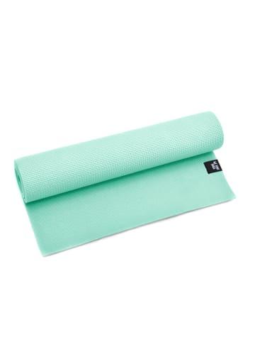"Zenpower Yogamatte "" We Love Yoga 183x60x0,6 cm "" in mint"