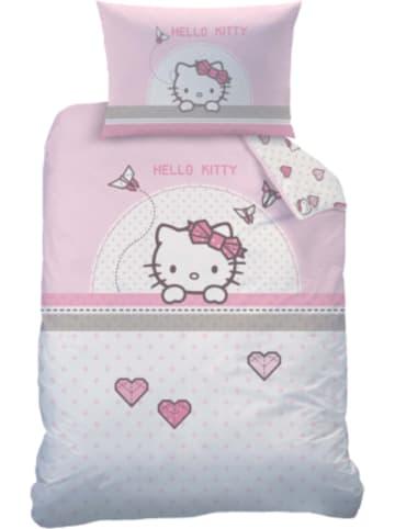 CTI Wende- Kinderbettwäsche Hello Kitty, Renforcé, 100 x 135 cm