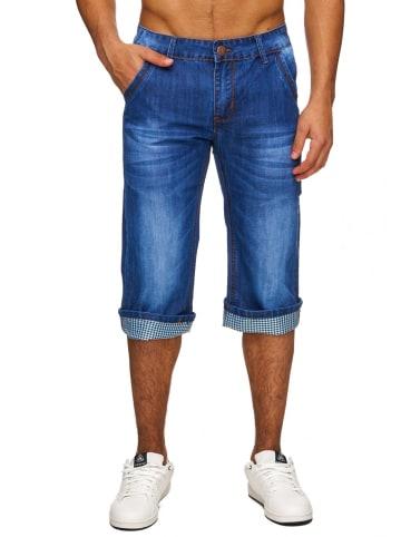 DYLAN STAR Jeans Shorts Bermuda in Blau