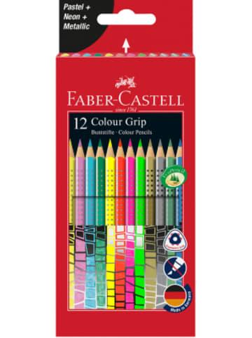 Faber-Castell Buntstifte COLOUR GRIP Sonderfarben, 12 Farben