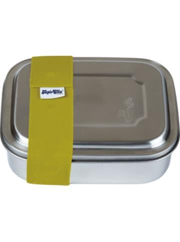 TapirElla Edelstahl-Brotdose mit Elastikband Sternchen grün