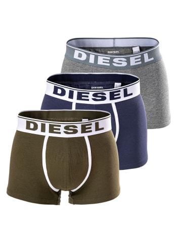 Diesel Boxershort 3er Pack in Grün/Grau/Blau