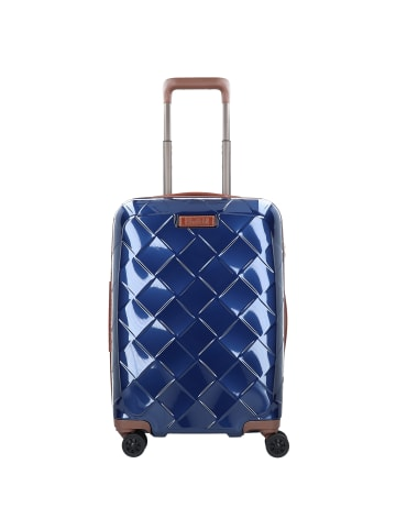Stratic Leather & More 4-Rollen Kabinentrolley 55 cm in blue