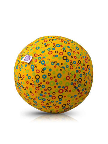 BubaBloon  Textile Ballonhülle, gelb, mit Bläschenmotiv