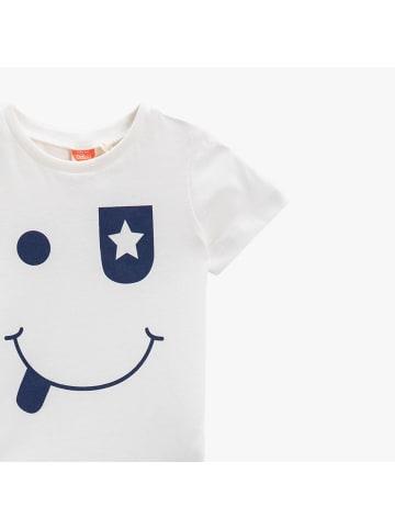 Mamino Kindermode Jungen T-Shirt -Emoji in weiss