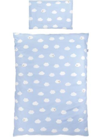 Roba Kinderbettwäsche Kleine Wolke, Baumwolle, blau, 100 x 135 cm