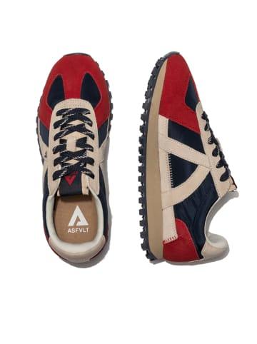 ASFVLT Sneaker GATE GAT005 in navy tan red