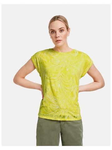 TAIFUN T-Shirt Kurzarm Rundhals in Gelb