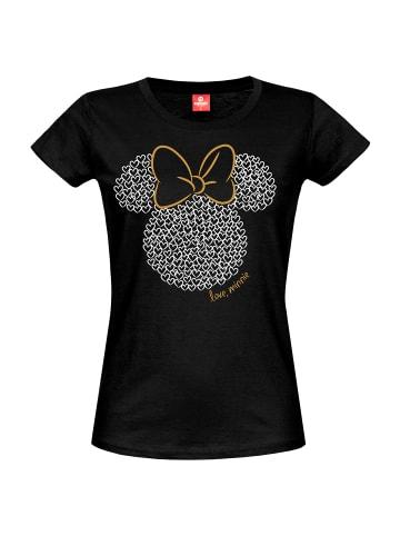 Disney T-Shirt Disney Love Minnie in schwarz