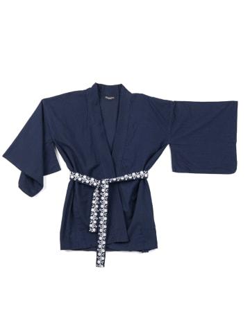 """OKKER-GOKKER NATURE Kimono  """"Thyra"""" in dunkelblau"""