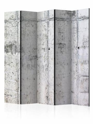 Artgeist Paravent Concrete Wall II [Room Dividers] in Grau