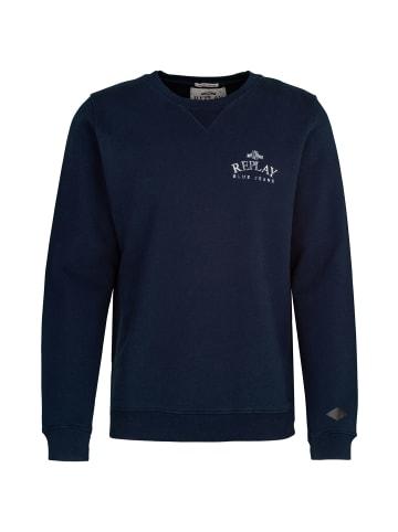 Replay Sweatshirt Organic in blau