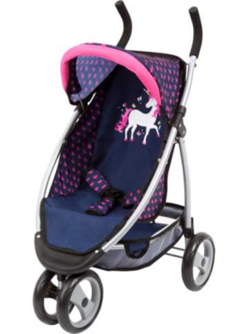 Bayer Design Puppen-Jogger Sport Einhorn blau/pink
