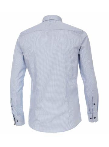 Venti Langarm Freizeithemd in blau
