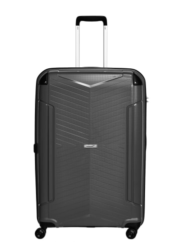 Packenger Premium Silent Reisekoffer in Schwarz