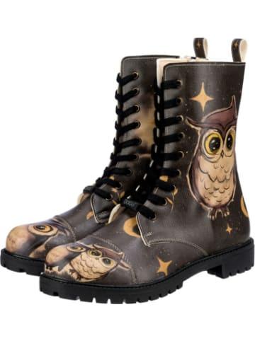 Dogo Dogo Zipsy - Owls Family Schnürstiefel