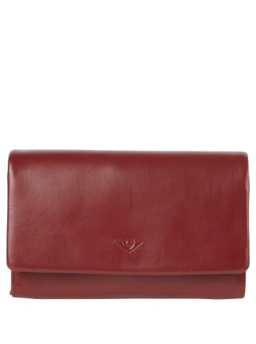 VLD VOi Leather Design Soft Hanna Geldbörse Leder 17 cm in granat