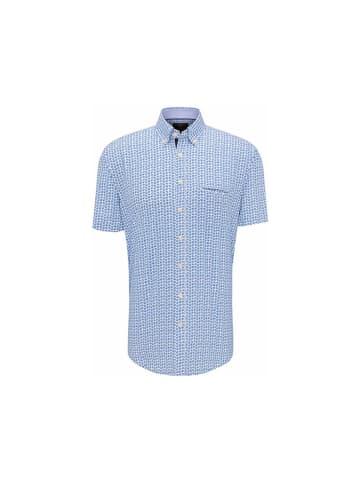 FYNCH-HATTON Kurzarm Freizeithemd in blau