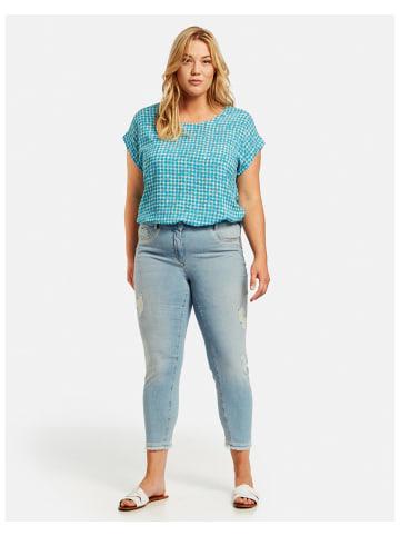 SAMOON Hose Jeans verkürzt in Blau