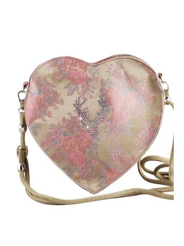 Edelnice Dirndltasche Rosalie in gold, rosa