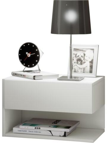VCM  Holz Wandschublade Nachttisch Dormal in Weiß