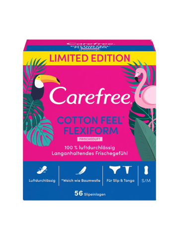 "Carefree Slipeinlagen ""Cotten Feel Frischeduft"" Flexiform LE ‒ 56 Stück"