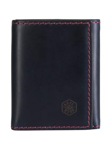Jekyll & Hide Texas Kreditkartenetui RFID Leder 9 cm in blue