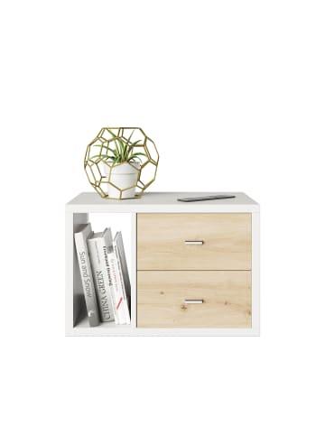 Phoenix Group AG  Fortuna - SET, Beistelltisch / Nachttisch inkl. Schubladeneinsatz, grau, B/H/T: 58x39,2x34cm