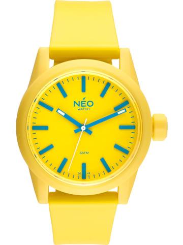 NEO Watch NEO Watch Armbanduhr aus Kunststoff in Gelb
