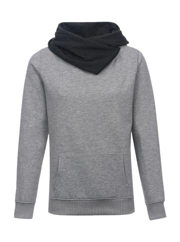 Nastrovje Potsdam Schalkragenpullover Nastrovje Potsdam Shawl Collar in grau meliert/schwarz