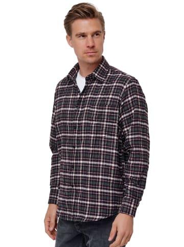 SECOLO Hemd Kariertes Flanell Holzfällerhemd Checkshirt in Weinrot