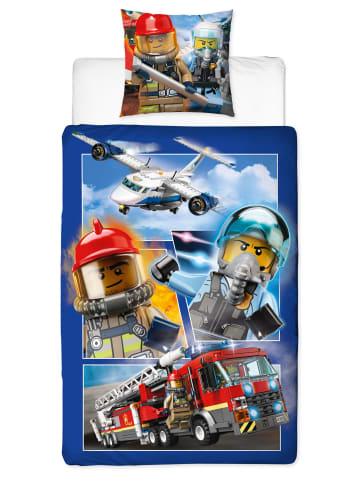 """Character World Jungen Bettwäsche-Set """"Lego City Polizei & Feuerwehr"""" in Bunt"""