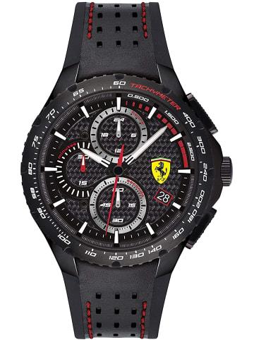 Scuderia Ferrari Chronograph Uhr 'Pista' in Schwarz/Schwarz