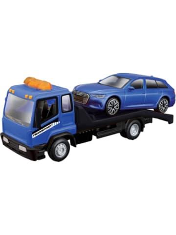 Bburago StreetFire Flatbed Tow Truck mit Audi A6 Avant, WB, 1:43